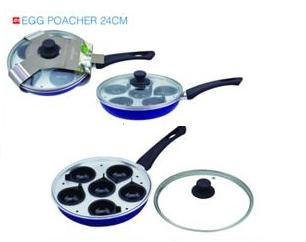 Egg poacher 24cm WITH GLASS LID